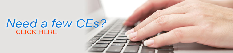 Do you need CE? Click to go to Online Seminars